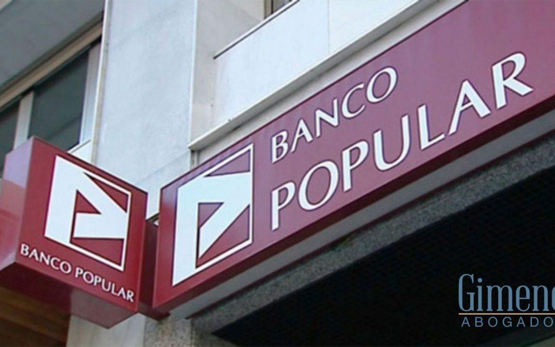 Nuevo caso de éxito para Gimeno Abogados por la compra de acciones al Banco Popular.