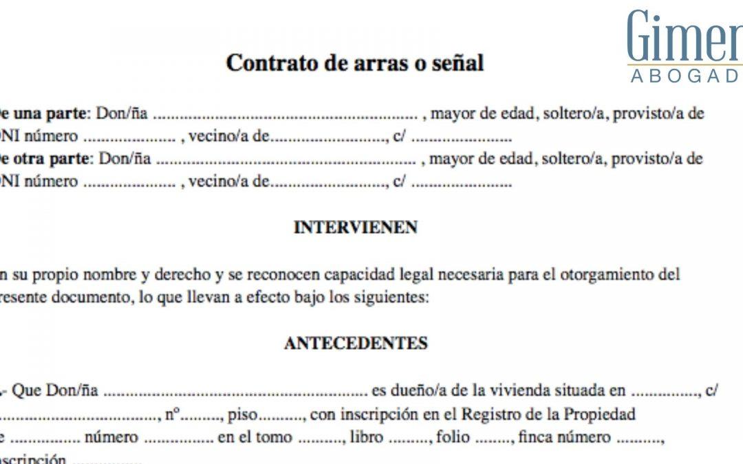 ¿Qué es un contrato de arras?